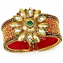 Traditional Polki Gold Plated Meenakri Rajwadi Jali Work Pin