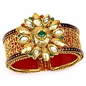 Traditional Polki Gold Plated Meenakri Rajwadi Jali Work Red
