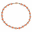 Two Tone Plated Orange Beaded Fashion Choker Necklace for Wo