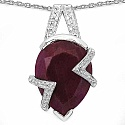 9.50CTW 16x11mm Oval Shape Dyed Ruby .925 Sterling Silver So