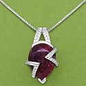 18.71CTW 22x15mm Pear Dyed Ruby .925 Sterling Silver Solitaire