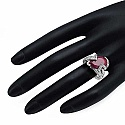 14.10CTW 20x15mm Pear Shape Dyed Ruby .925 Sterling Silver S