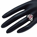 12.00CTW 16x12mm Oval Shape Dyed Ruby .925 Sterling Silver S