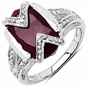 2.50CTW 9x7mm Oval Shape Dyed Ruby .925 Sterling Silver Soli