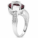 3.50CTW 9.50mm-9.85mm Trillion Shape Dyed Ruby .925 Sterling