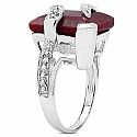 6.80CTW 13.00mm Square Shape Dyed Ruby .925 Sterling Silver