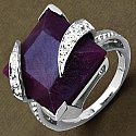 20.90CTW 15.00mm Square Shape Dyed Ruby .925 Sterling Silver So