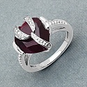 5.00CTW 12.00mm Heart Shape Dyed Ruby .925 Sterling Silver Soli