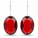 Handmade Silver Plating Red Glass Earrings For Women