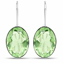 Handmade Silver Plating Green Glass Earrings For Women