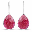 Handmade Silver Plating Pink Glass Earrings For Women