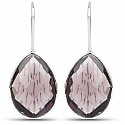 Handmade Silver Plating Purple Glass Earrings For Women