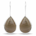 Handmade Silver Plating Brown Stone Earrings For Women