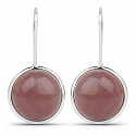 Handmade Silver Plating Maroon Glass Earrings For Women