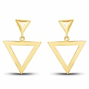Gold Plated Contemporary Gorgeous Triangle Shape Dangle Earr