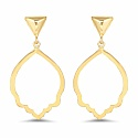 Gold Plated Contemporary Shimmering Hoop Earrings For Women