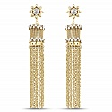 Oxidised Gold Plated Fashion Tassel Chandelier Earrings for