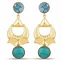 Designer Gold Plated Fashion Yellow Dangle Drop Earrings for