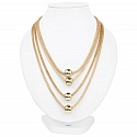 Fashion Statement Gold Plated Multi Strand Statement Necklac