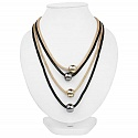 Fashion Statement Two Tone Multi Strand Handmade Necklace fo
