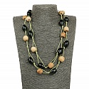Fashion Statement Handmade Multi Thread Strand Beaded Neckla