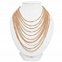 Rose Gold Plated Multi layered Fashion Statement Necklace fo