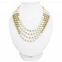 Gold Plated Handmade Multi Strand Designer Pearl Necklace fo