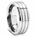 17.60 Grams Tripple Groove 8MM Tungsten Carbide Wedding Ring