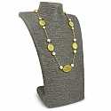 Fashion Statement Gold Plated Yellow Glass & Pearl Necklace