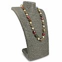 Fashion Statement Pearl Beaded Multicolour Gold Plated Neckl