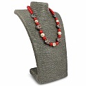 Fashion Statement Red Pearl Beaded Gold Plated Necklace for