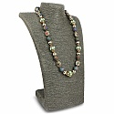 Fashion Statement Druzy Beaded Multicolour Gold Plated Neckl