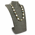 Fashion Statement Gold Plated Pearl Beaded White Necklace fo