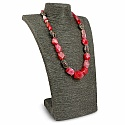 Fashion Statement Gold Plated Pearl Beaded Pink Agate Neckla