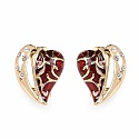 Gleam Touch 61.07 Grams Gold Plated Red Enamel Heart Shape N