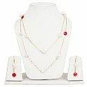 Fashion Contemporary White Pearl Adorned Multi Layered Neckl