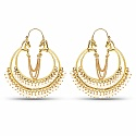 Designer Gold Plated Hoops Earrings For Women