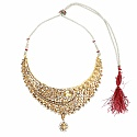 Traditional Goldplated Ethnic Fashion Choker Maangtikka Neck
