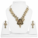 Fashion Traditional Goldplated Designer Pearl Necklace Set f