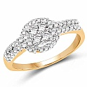 1.86 Grams White Cubic Zirconia Gold Plated Brass Ring