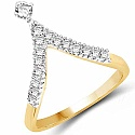 1.80 Grams White Cubic Zirconia Gold Plated Brass Ring