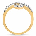 2.16 Grams White Cubic Zirconia Gold Plated Brass Ring