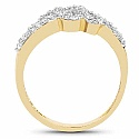 2.35 Grams White Cubic Zirconia Gold Plated Brass Ring