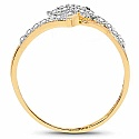 1.54 Grams White Cubic Zirconia Gold Plated Brass Ring