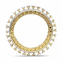 Johareez 43.85 Grams White Cubic Zirconia Gold Plated Brass