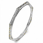 3.36CTW .925 Sterling Silver White Cubic Zirconia Bangle