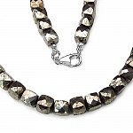 424.75CTW Payorite 49CM Long .925 Sterling Silver Beads Neck