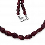 131.00CTW Dyed Ruby 18.25Inches Long Beaded Necklace