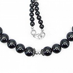 "62.00 Grams Hematite 18.50"" Long .925 Sterling Silver Beads"