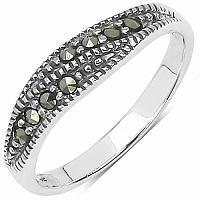 1.30 Grams Marcasite .925 Sterling Silver Ring